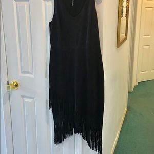 Laundry High end fringe suede dress. New.